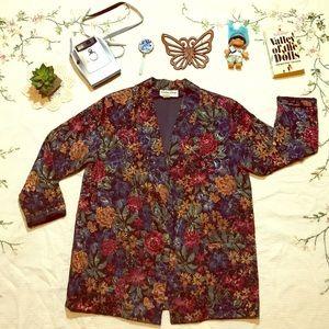 🌺STUNNING Vintage Floral Jacquard Blazer Jacket💐